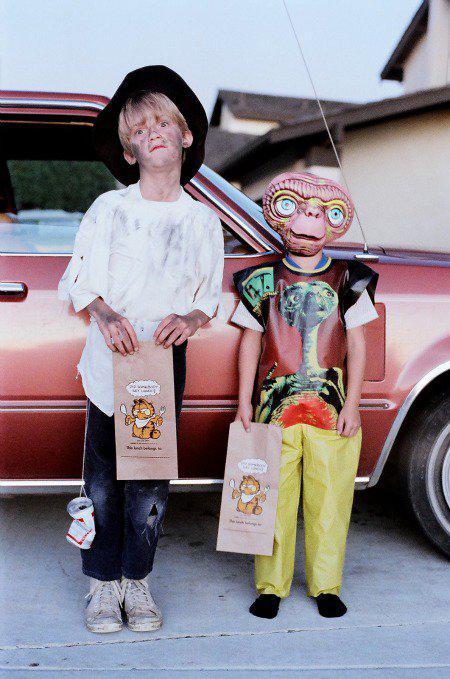 My boys in 1982 on Halloween