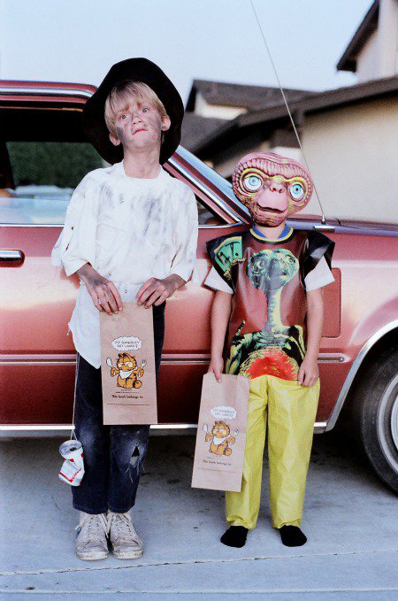 My boys in 1982 on Halloween