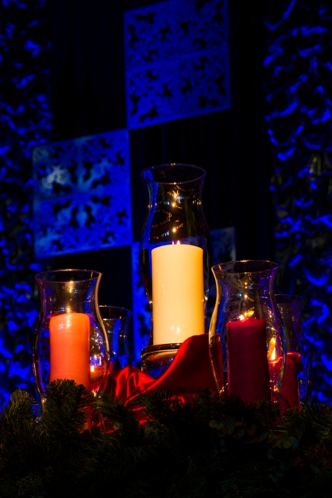 Advent candles at Perimeter Church